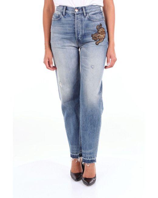 PT01 Blue Cotton Jeans