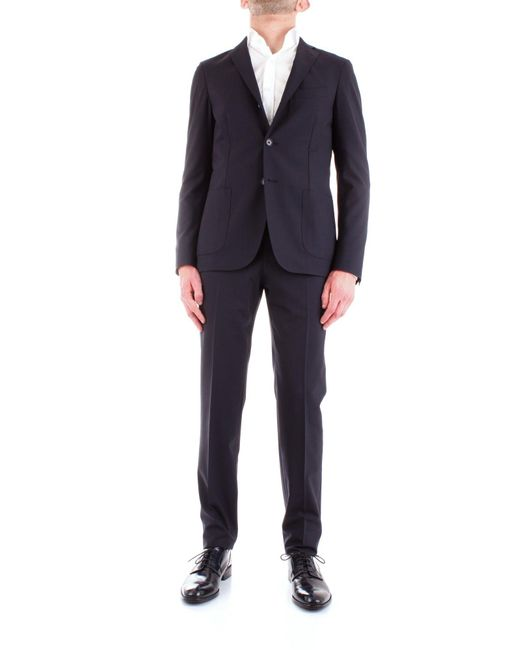 Corneliani Blue Wool Suit for men