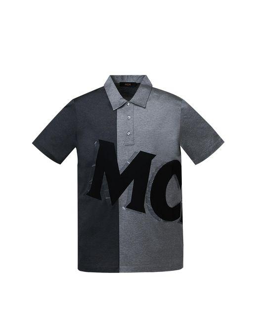 Lyst Mcm Big Logo Polo In Black For Men