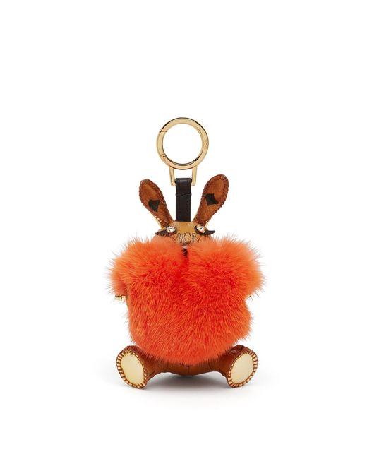 MCM   Orange 3d L-rabbit Fur Charm   Lyst
