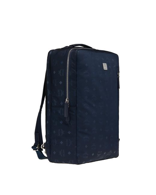 643614ecfd4a ... MCM - Blue Dieter Briefpack In Monogram Nylon for Men - Lyst ...