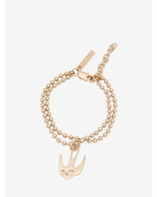 McQ Alexander McQueen - Metallic Ball Chain Swallow Bracelet - Lyst