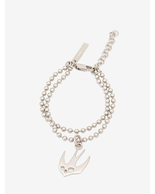 McQ Alexander McQueen | Metallic Ball Chain Swallow Bracelet | Lyst