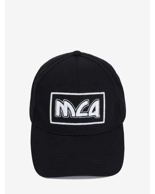 2bcce7e6107ef ... McQ Alexander McQueen - Black Mcq Metal Logo Baseball Cap for Men -  Lyst ...