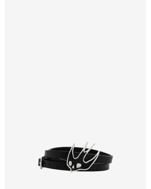 McQ Alexander McQueen - Black Swallow Triple Wrap Bracelet - Lyst