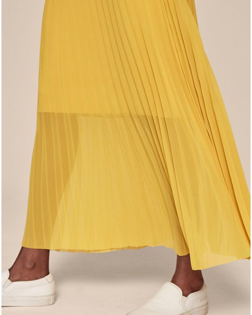 1b7217d693 ... ME+EM - Yellow Double Layer Pleat Skirt - Lyst ...