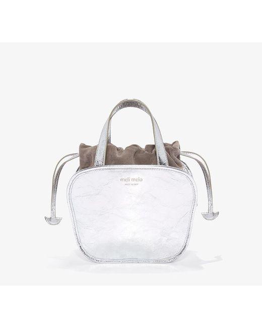 Meli Melo - Metallic Rosetta   Cross Body Bag   Silver - Lyst