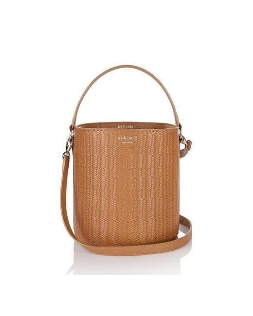 Meli Melo | Brown Santina Bucket Bag Light Tan Woven | Lyst