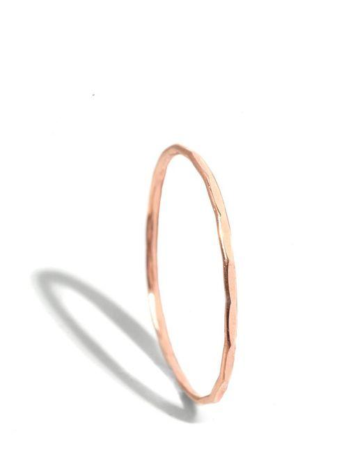 Melissa Joy Manning | Metallic 18k Rose Gold Hammered Texture 1mm Ring | Lyst