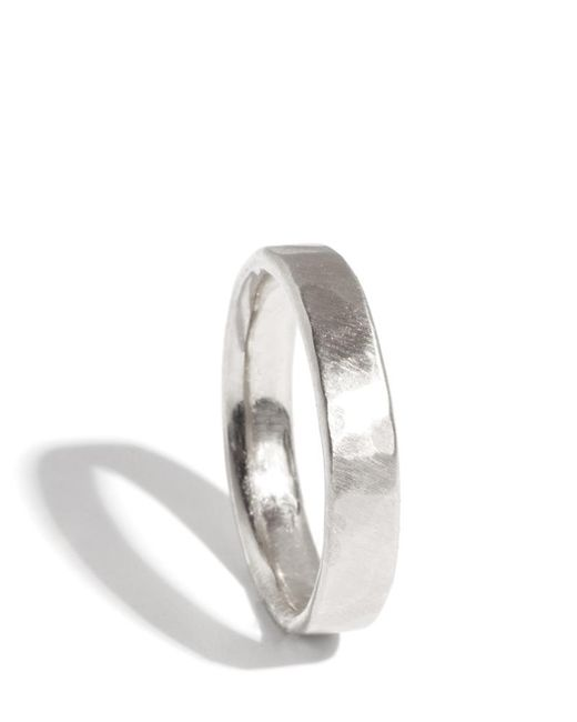 Melissa Joy Manning | Metallic 18k White Gold Hammered Texture 4mm Ring | Lyst
