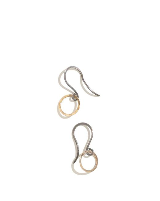 Melissa Joy Manning | Metallic Small Gold And Oxidized Silver Textured Circle Earrings | Lyst