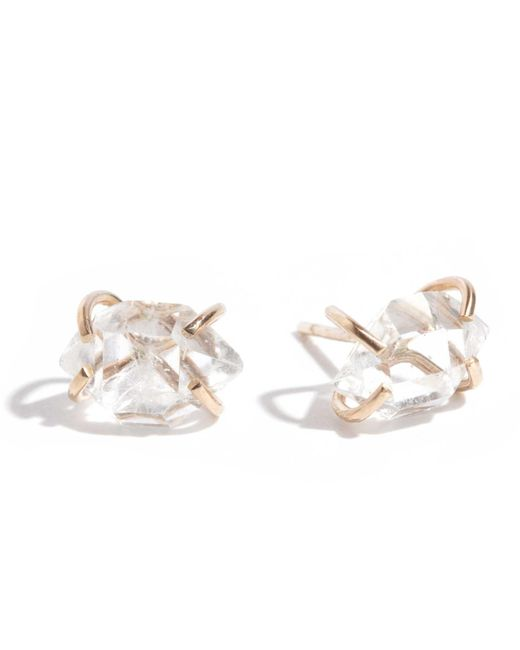 Melissa Joy Manning | Metallic Herkimer Diamond Stud Earrings | Lyst