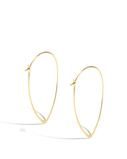 Melissa Joy Manning | Metallic 2 Inch Extra Large Leaf Hoops | Lyst