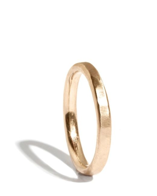 Melissa Joy Manning   Metallic 14k Gold Hammered Texture 2mm Ring   Lyst