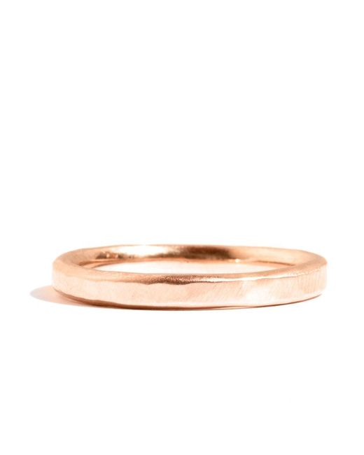 Melissa Joy Manning | Metallic 18k Rose Gold Hammered Texture 2mm Ring | Lyst