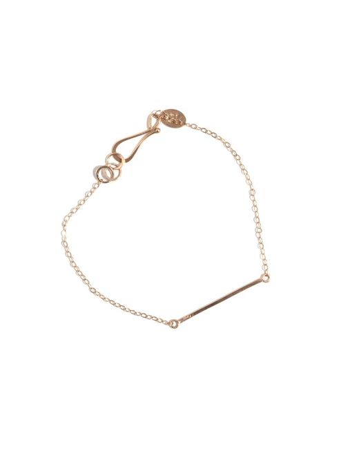 Melissa Joy Manning | Metallic Gold Bar Bracelet | Lyst