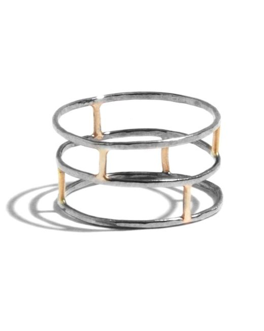 Melissa Joy Manning | Metallic Layered Brick Ring | Lyst