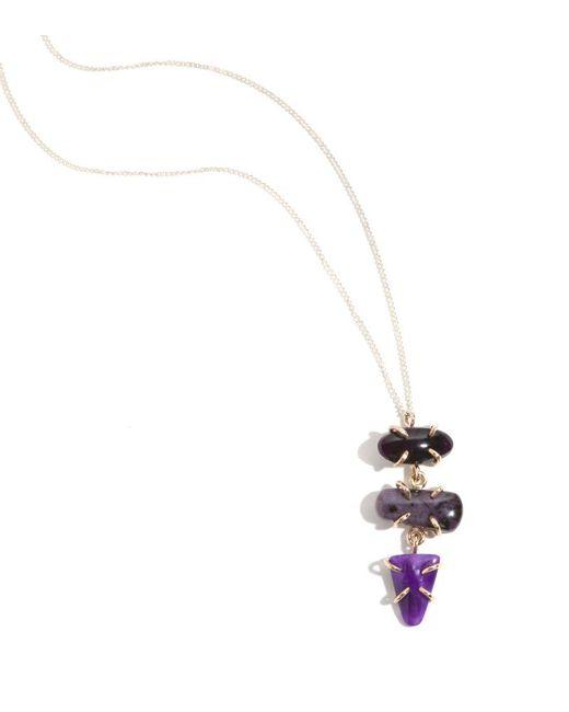 Melissa Joy Manning | Purple Three Stone Sugilite Necklace | Lyst