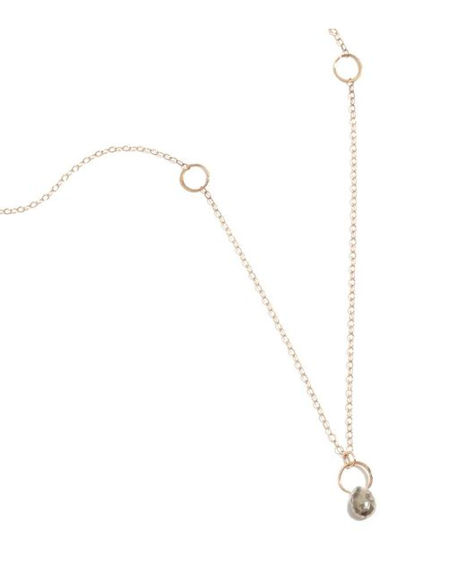 Melissa Joy Manning | Metallic Pyrite Drop Necklace | Lyst
