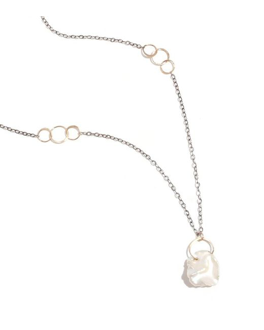 Melissa Joy Manning | Metallic Pearl Gold And Oxidized Silver Necklace | Lyst