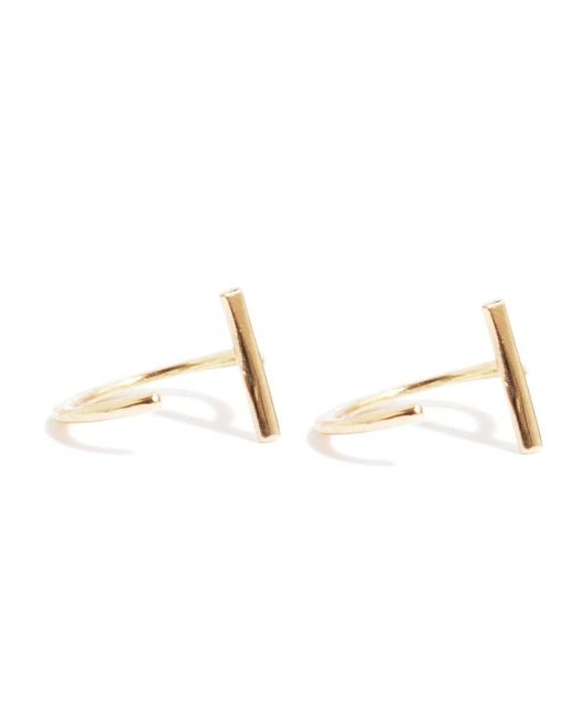 Melissa Joy Manning | Metallic Bar Hug Hoops | Lyst