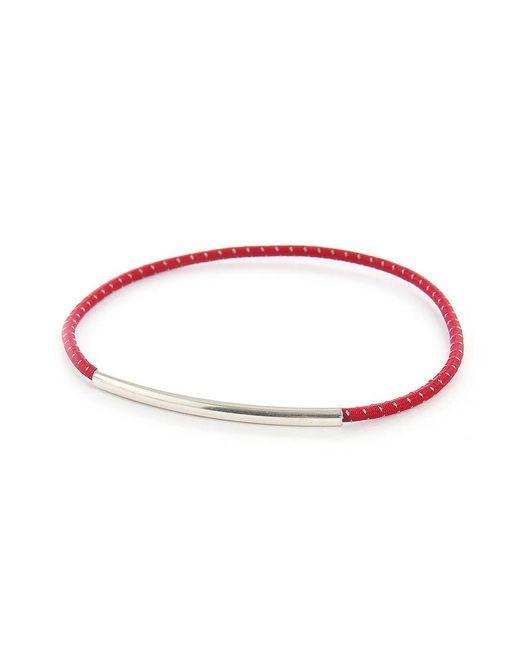 Gilbert Gilbert | Red Tube Bracelet for Men | Lyst