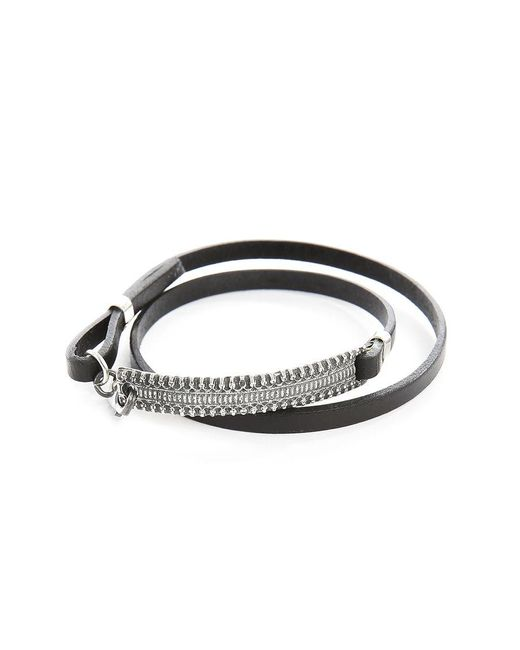 Gilbert Gilbert | Hen 12 Black Leather Adjustable Bracelet for Men | Lyst