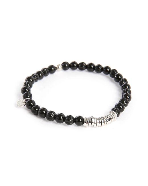 Tateossian | Black Beads Round-disc 17.5 Cm Bracelet for Men | Lyst