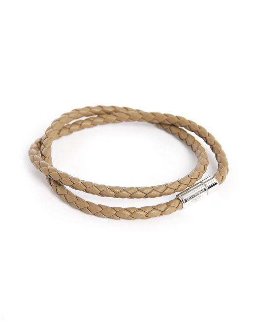 Tateossian | Brown Leather Pop Scoubidou Double 38 Cm Bracelet for Men | Lyst