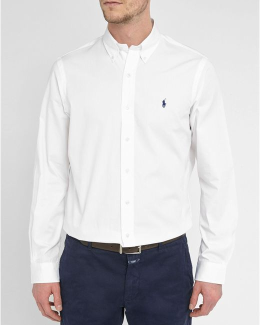 Polo Ralph Lauren | White Poplin Custom-fit Shirt for Men | Lyst