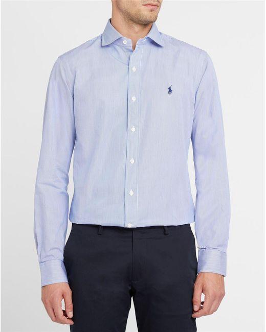 Polo Ralph Lauren | Blue Checked Poplin Sportshirt for Men | Lyst
