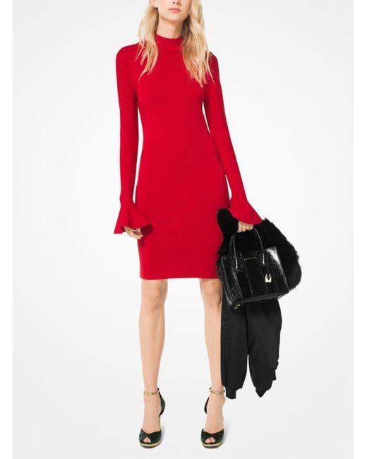 Michael Kors | Red Bell-sleeve Dress | Lyst