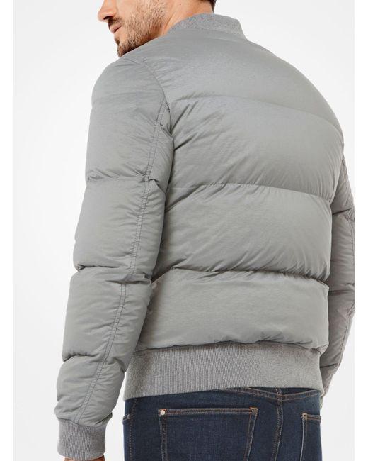 Michael Kors | Gray Quilted-nylon Bomber Jacket for Men | Lyst