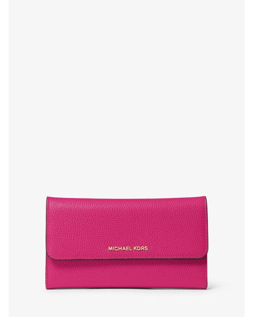 Michael Kors - Pink Mercer Tri-fold Leather Wallet - Lyst