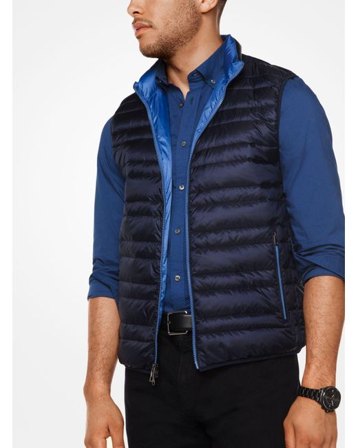 Michael Kors | Blue Quilted-nylon Vest for Men | Lyst