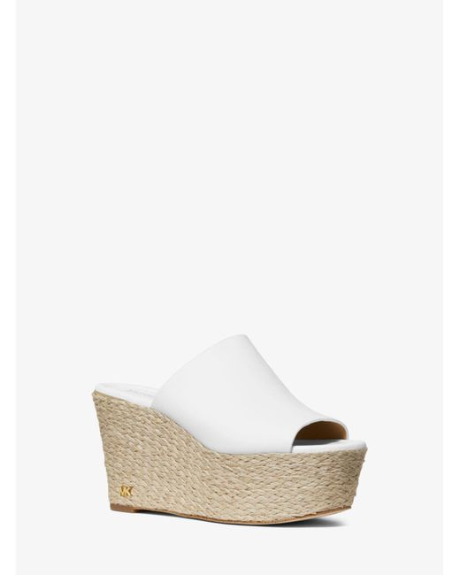 0b083ce01ab Michael Kors - White Cunningham Leather Wedge - Lyst ...
