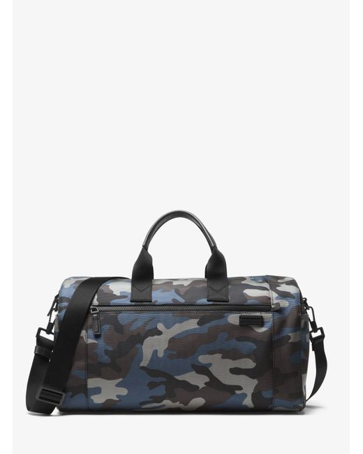 Michael Kors - Black Travis Camouflage Nylon Duffel for Men - Lyst