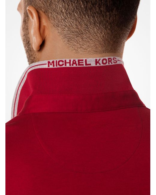 Michael Kors - Red Greenwich Cotton Polo Shirt for Men - Lyst