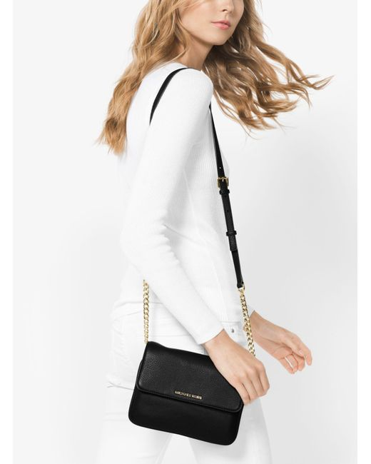 Michael Kors | Black Bedford Leather Crossbody | Lyst