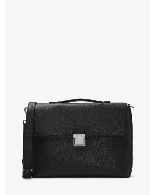 Michael Kors | Black Bryant Large Leather Briefcase for Men | Lyst