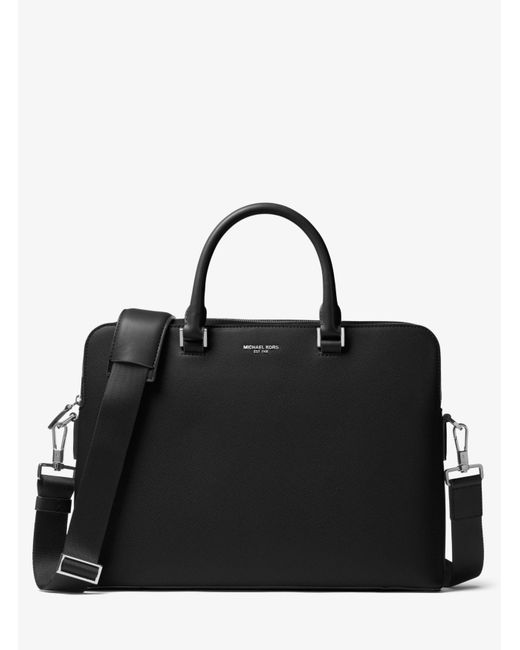 Michael Kors   Black Harrison Leather Briefcase for Men   Lyst