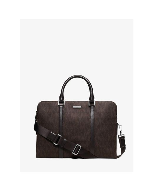 Michael Kors   Brown Jet Set Logo Briefcase for Men   Lyst