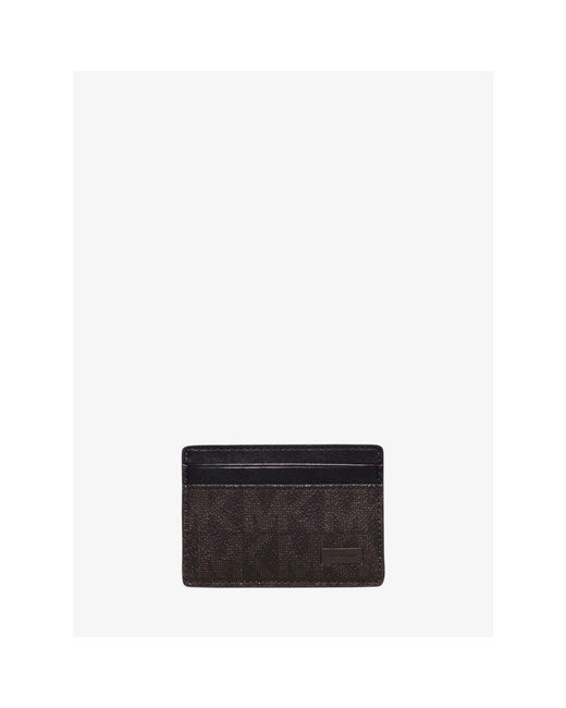 Michael Kors | Brown Jet Set Logo Money-clip Card Case for Men | Lyst