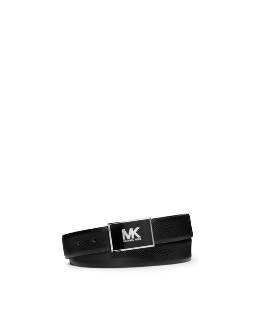 Michael Kors | Black Leather Logo Belt for Men | Lyst