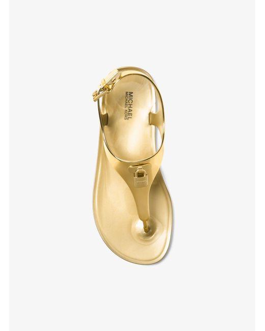 Michael Kors | Metallic Jelly Sandal | Lyst
