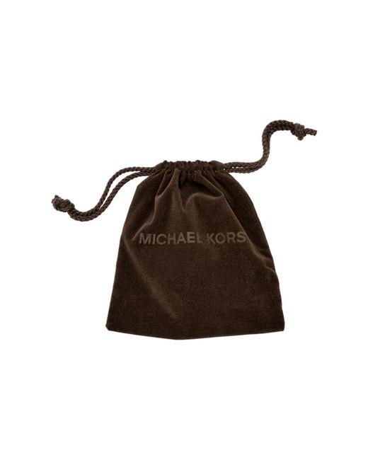 Michael Kors | Pink Crystal Padlock Rose Gold-tone Necklace | Lyst