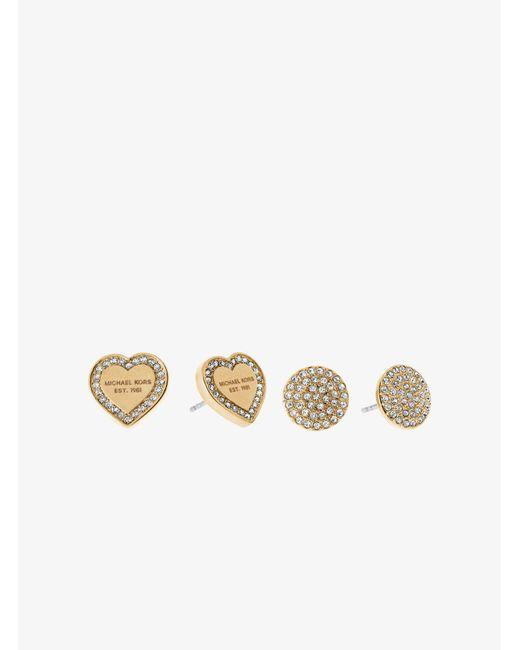 Michael Kors - Metallic Gold-tone Stud Earrings Set - Lyst