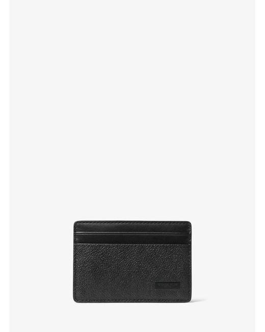 Michael Kors - Black Jet Set Logo Money-clip Card Case for Men - Lyst