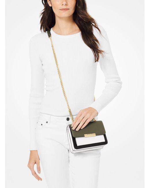028292f60626 ... MICHAEL Michael Kors - Multicolor Jade Extra-small Tri-color Leather  Crossbody Bag -