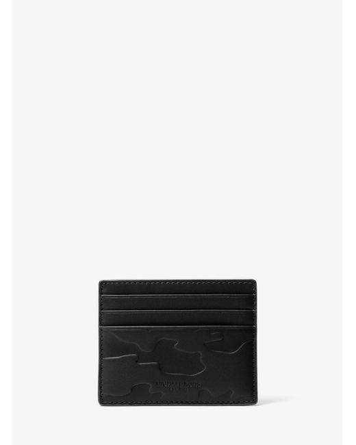 Michael Kors - Black Odin Tall Embossed-leather Card Case for Men - Lyst
